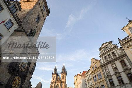 Clock, Old Town Sq, Prague, Czechoslovakian Republic