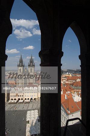 Old Town Sq through Arches,Prague,Czechoslovakian Republic