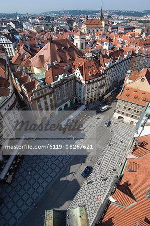 Rooftops, Old Town Sq, Prague, Czechoslovakian Republic