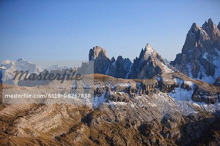 View above Misurina, Dolomites, Italy, Europe