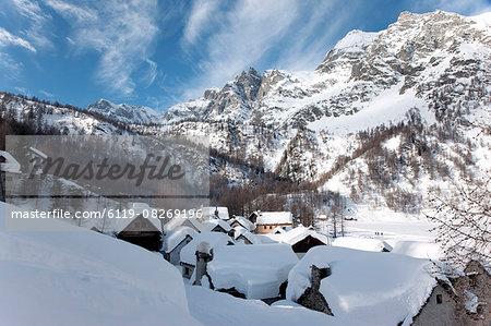 Alps in winter, Alpe Devero, Piedmont Region, Italy, Europe