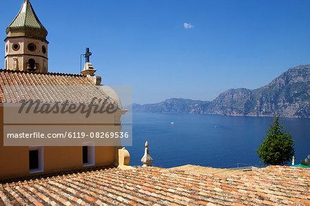The church San Luca in Praiano, Amalfi Coast, UNESCO World Heritage Site, Campania, Italy, Europe