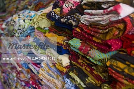 Colourful clothes for sale, Nouakchott, Mauritania, Africa