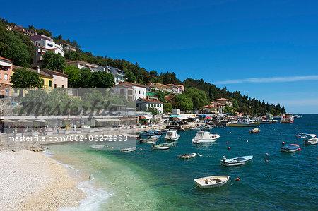 Beach, Rabac, Istria, Croatia