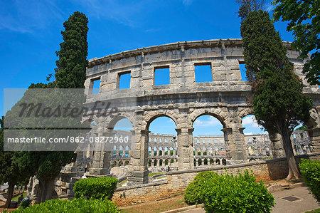 Amphitheater in Pula, Istria, Croatia