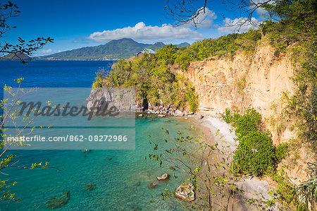 Dominica, St John Parish, Portsmouth. Secret Beach at Secret Bay.