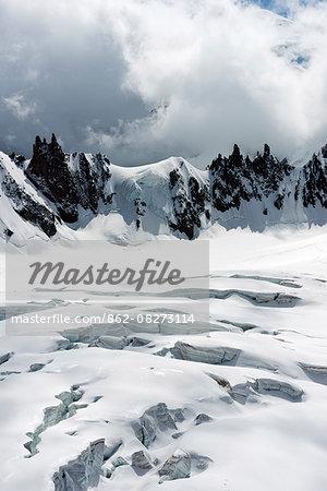 Europe, France, Haute Savoie, Rhone Alps, Chamonix, Vallee Blanche