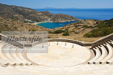 Ancient theatre, Ios Island, Cyclades, Greece