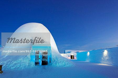 Arctic Circle, Lapland, Scandinavia, Sweden, Kiruna, Ice Hotel, Ice bar