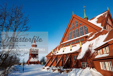 Arctic Circle, Lapland, Scandinavia, Sweden, Kiruna, Kiruna church