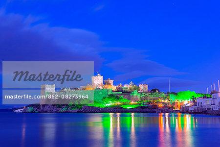 Turkey, Meditteranean region, Aegean coast, Bodrum, Bodrum castle