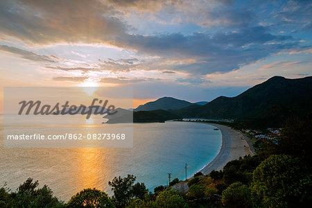 Turkey, Mediterranean, Aegean Turquoise coast, Oludeniz near Fethiye, Belcekiz beach