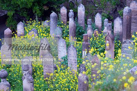 Turkey, Eastern Anatolia, Sanliurfa, muslim cemetery