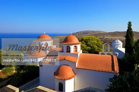 Monastery of Agios Savvas above Pothia, Kalymnos, Dodecanese, Greek Islands, Greece, Europe