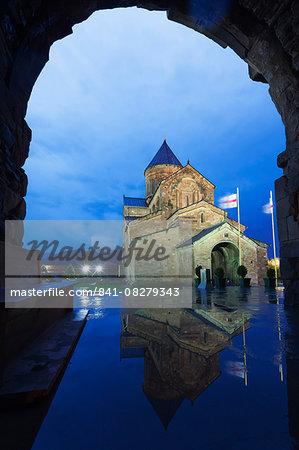 Svetitskhoveli Cathedral, 11th century, by Patriach Melkisedek, Mtskheta, historical capital, UNESCO World Heritage Site, Georgia, Caucasus, Central Asia, Asia