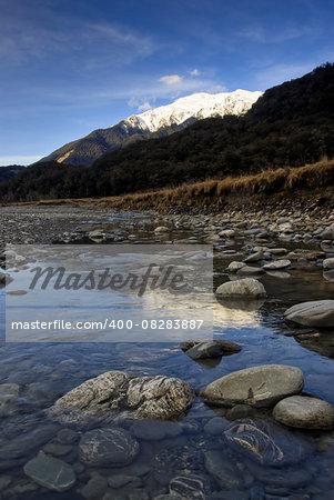 Ohau River, the Mackenzie Basin, Southern Alps, south island, New Zealand