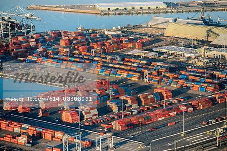 Shipping port, Los Angeles, California, USA