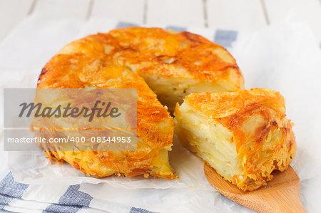 Crusty Upside Down Layered Potato Bake (Cake)
