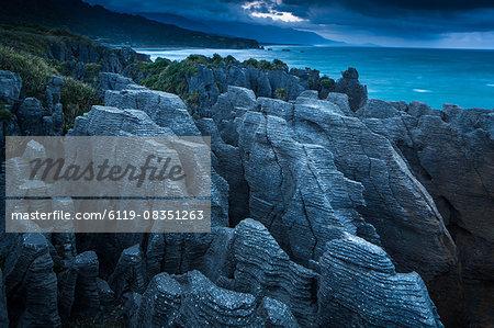 Punakaiki, Pancake Rocks, West coast, North Island, New Zealand, Pacific