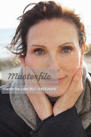 Close up Portrait of Mature Woman