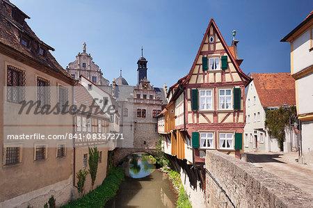 Museum Malerwinkelhaus and Maintor, Marktbreit, Lower Franconia, Bavaria, Germany, Europe