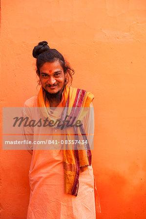 Sadhu, Varanasi (Benares), Uttar Pradesh, India, Asia