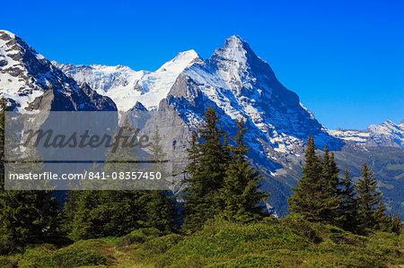 Eiger and Moench, Swiss Alps, Switzerland, Europe