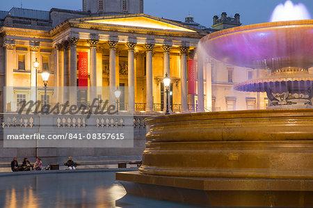 National Gallery on Trafalgar Square, London, England, United Kingdom, Europe