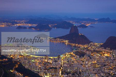 View of Rio de Janeiro from Corcavado, Rio de Janeiro, Brazil, South America