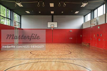 Interiors of a sports hall, Munich, Bavaria, Germany