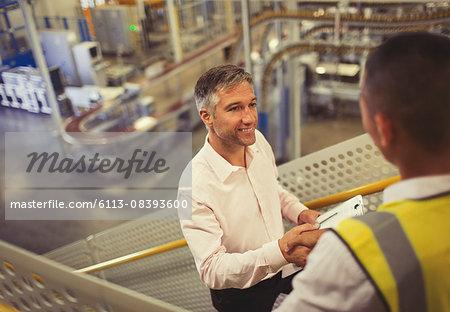 Supervisor and worker handshaking in factory