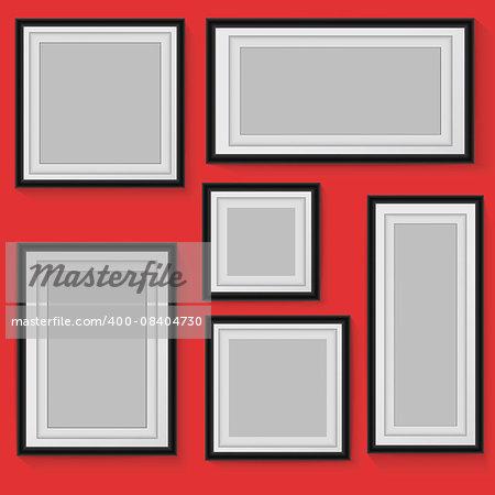 Set of vector frames on background.  Vector eps10 illustration