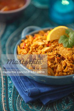 Chicken biryani (India)