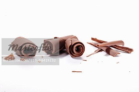Various chocolate curls