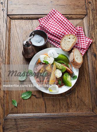Tomato and buffalo mozzarella salad