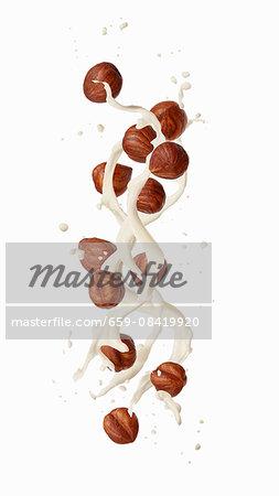 A splash of hazelnut milk