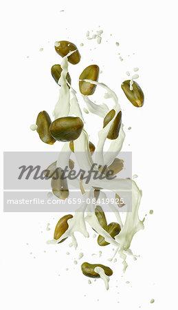A splash of pistachio milk