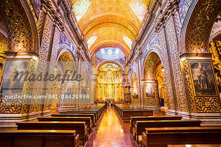 La Iglesia de la Compania de Jesus, City of Quito, Ecuador, South America