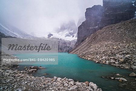Mirador Base Las Torres, Torres del Paine National Park (Parque Nacional Torres del Paine), Patagonia, Chile, South America