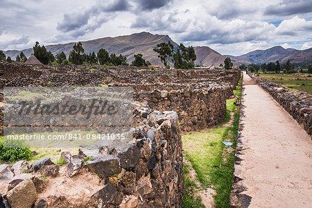 Raqchi Inca ruins, an archaeological site in the Cusco Region, Peru, South America
