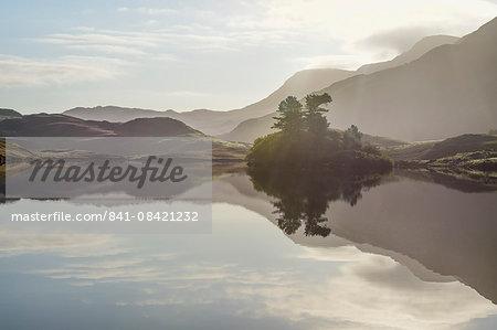Reflections, Cregannen Lake, Dolgellau, Gwynedd, North Wales, United Kingdom, Europe