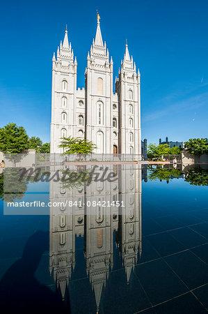 Salt Lake Temple, Temple Square, Salt Lake City, Utah, United States of America, North America