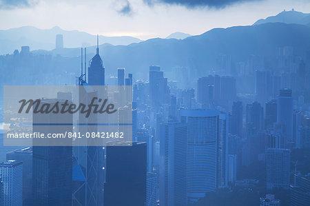 View of Hong Kong Island skyline, Hong Kong, China, Asia