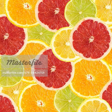 Citrus fruit slices.
