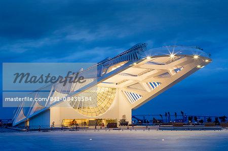 The Museu do Amanha (Museum of Tomorrow) by Santiago Calatrava opened December 2015, Rio de Janeiro, Brazil, South America