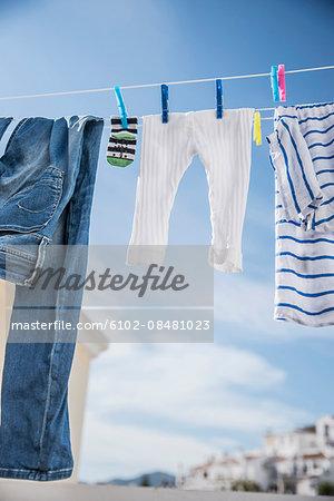Laundry on balcony