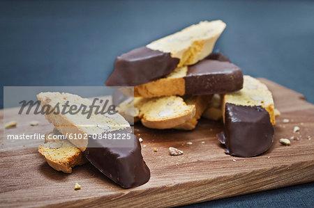 Sweet snacks on cutting board