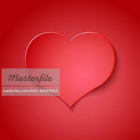 Valentine Day postcard concept template. Vector illustration.