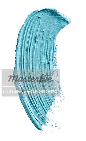 A sample of turquoise mascara