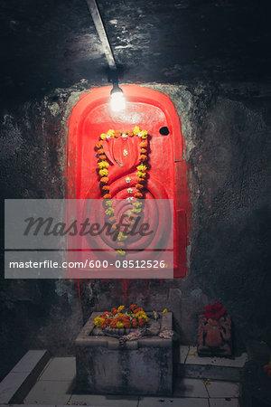 Representation of Three-headed Snake in Gita Temple, Somnath, Saurashtra, Gujarat, India